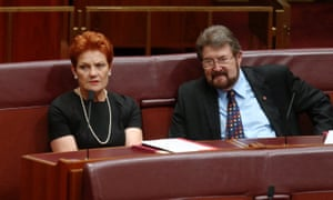 One Nation's Pauline Hanson and Justice party's Derryn Hinch.