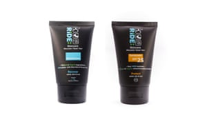 Protect mineral suncream and Recover sports moisturiser