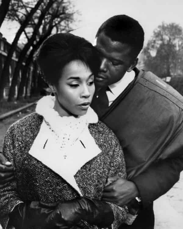 Diahann Carroll starring with Sidney Poitier in Paris Blues, 1961.