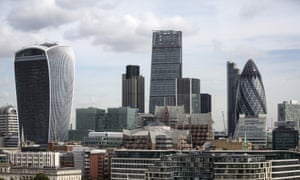 the city of london skyline in 2016