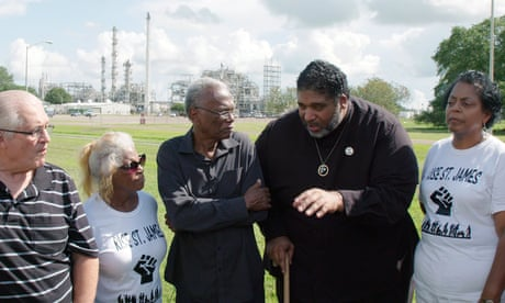 Cancer Town: Rev William Barber visits town at heart of Guardian campaign – video