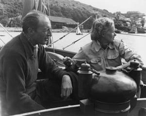 Moper … Daphne du Maurier with her husband Frederick Browning.