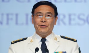 Admiral Sun Jianguo says China 'does not make trouble'.