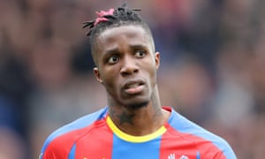 Wilfried Zaha, who earns around £130,000 a week, has a contract at Crystal Palace to 2023.