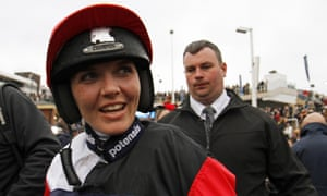 Victoria Pendleton after the Foxhunter Chase