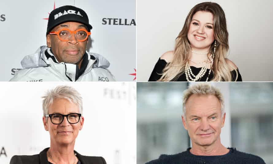 Spike Lee, Kelly Clarkson, Sting and Jamie Lee Curtis.