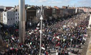 Dublin water march