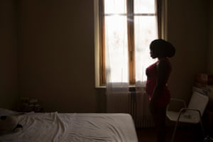 Loveth, 21, in a shelter for victims of sex trafficking in Italy.