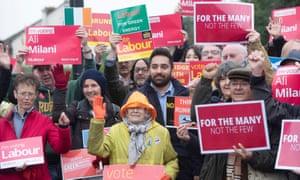Ali Milani and Labour supporters in Uxbridge