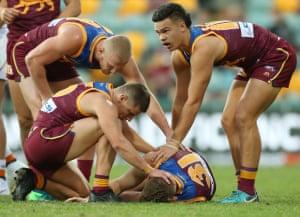 Brisbane Lions player injured