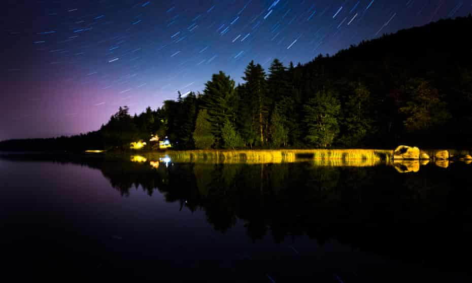 Star trails over Maine, where Alan Lightman experienced 'a kind of epiphany' last year