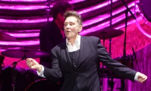 'lang's voice remains as pure as the proverbial driven snow and yet, serious song content aside, she's a hoot' ... kd lang performing at Bonus arena, Hull, 13 July 2019.