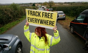 Anti-fracking protests at Kirby Misperton, North Yorkshire, where Third Energy had planned to drill.