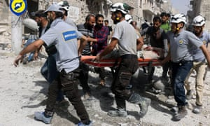 Syria's White Helmet rescue workers have been the subject of an online disinformation campaign.
