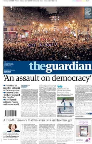 Guardian front page: 'An assault on democracy'
