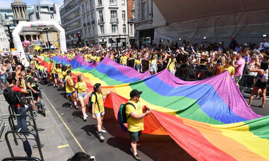 The Pride in London Parade gets under way in central London on Saturday.