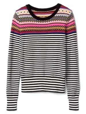 Striped fairisle, £49.95, gap.com