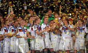 Germany lift the World Cup after beating Argentina in the 2014 final in Brazil.