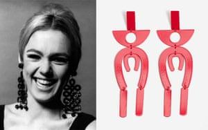 Edie Sedgwick-inspired geometric earrings, £12.99, mango.com.