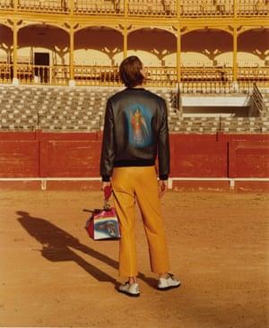 Back prints: the Loewe jacket.