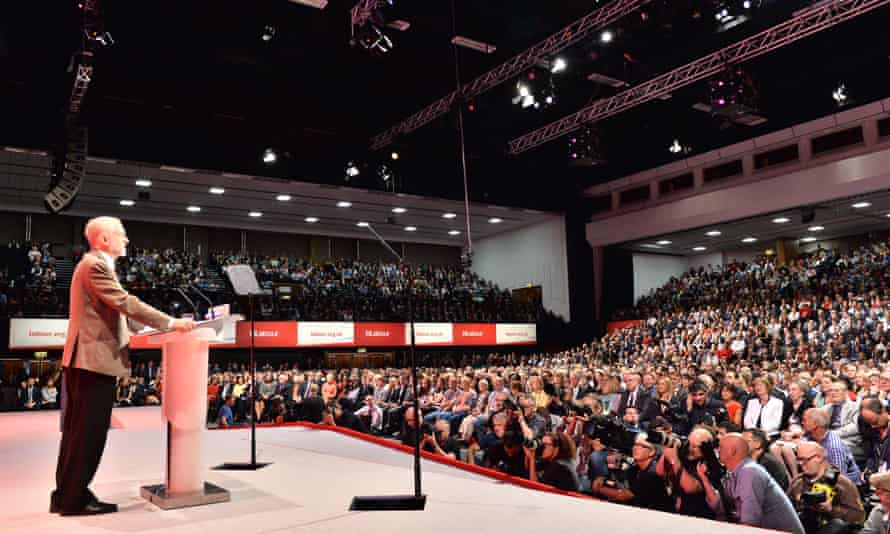 Jeremy Corbyn at the Labour party annual conference in Brighton in September 2015.