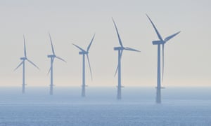 An offshore windfarm in the North Sea.