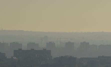 Toxic smog hanging over Madrid