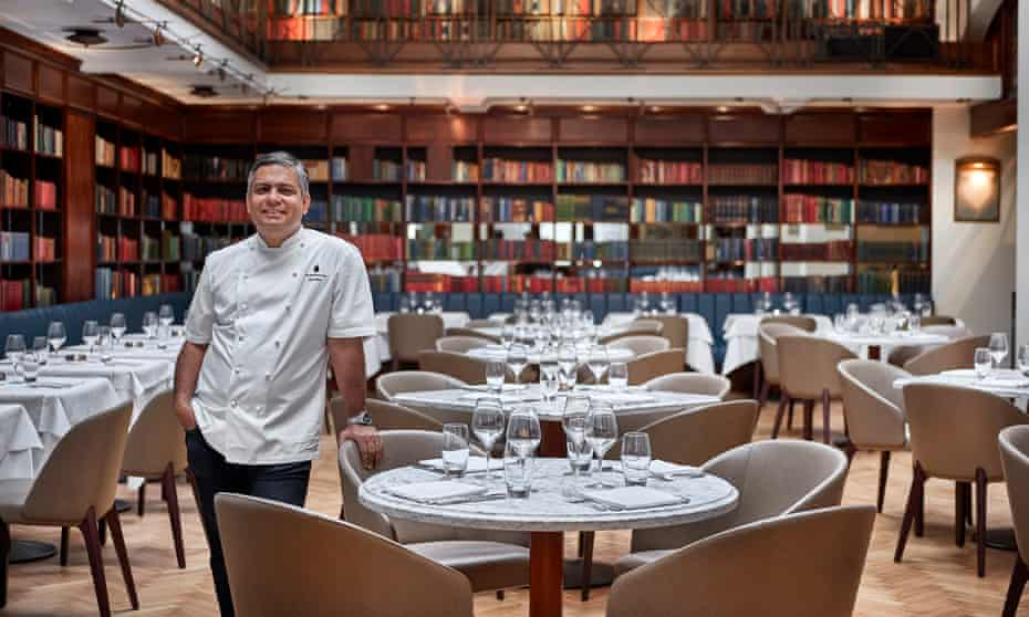 Vivek Singh at his restaurant, The Cinnamon Club, in Westminster
