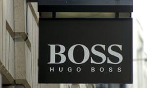 A Hugo Boss sign