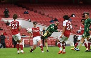 Sheffield United's English-born Irish striker David McGoldrick scores