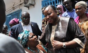 She became, at a stroke, one of the most powerful African women in the world ... Fatou Bensouda in Conakry, Guinea.