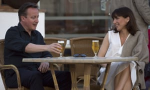 David and Samantha Cameron on holiday in Lanzarote.