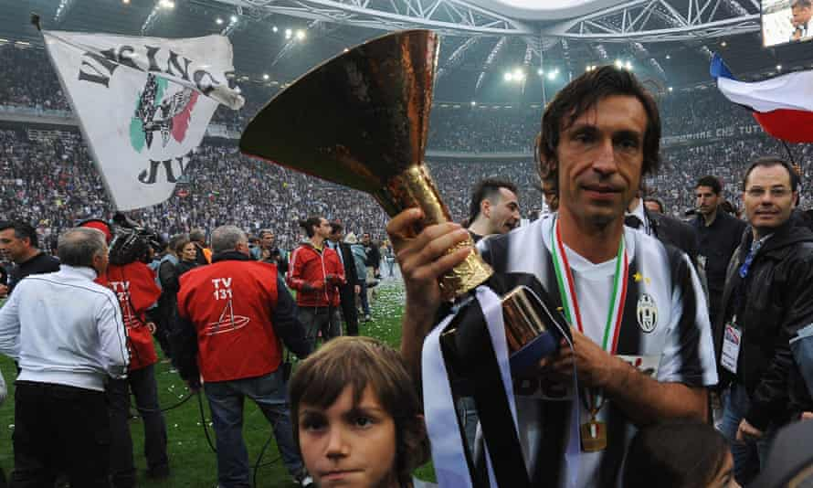 Andrea Pirlo with the Serie A trophy in 2012