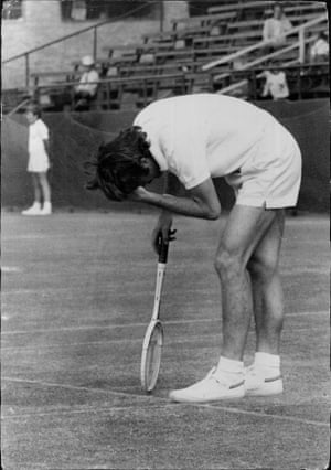 Wimbledon champion John Newcombe was not at all happy with his game in 1971. But he still managed to beat American Charles Pasarell.