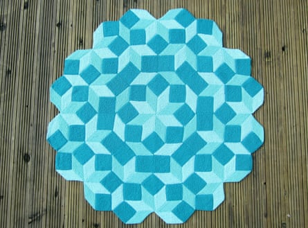 Penrose: This was based on a drawing that Sir Roger Penrose sent to Ashforth and Plummer, involving his own 'Penrose tiles'.