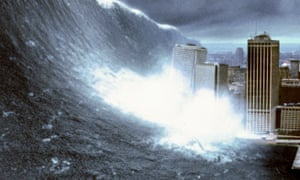 In the 1998 film Deep Impact a tidal wave hits New York
