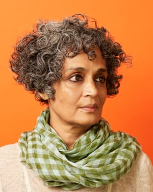 Author Arundhati Roy photographed in London