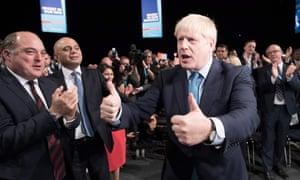 Boris Johnson after his conference speech