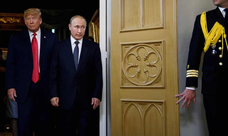 Trump in Helsinki with Putin on Monday. He said on Thursday he looked forward to his next Putin meeting – though it was unclear when exactly this is expected to be.