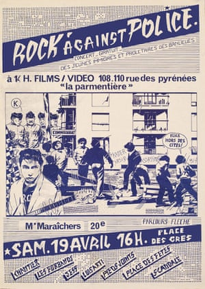 A poster for a Rock Against Police concert in Paris, 1980