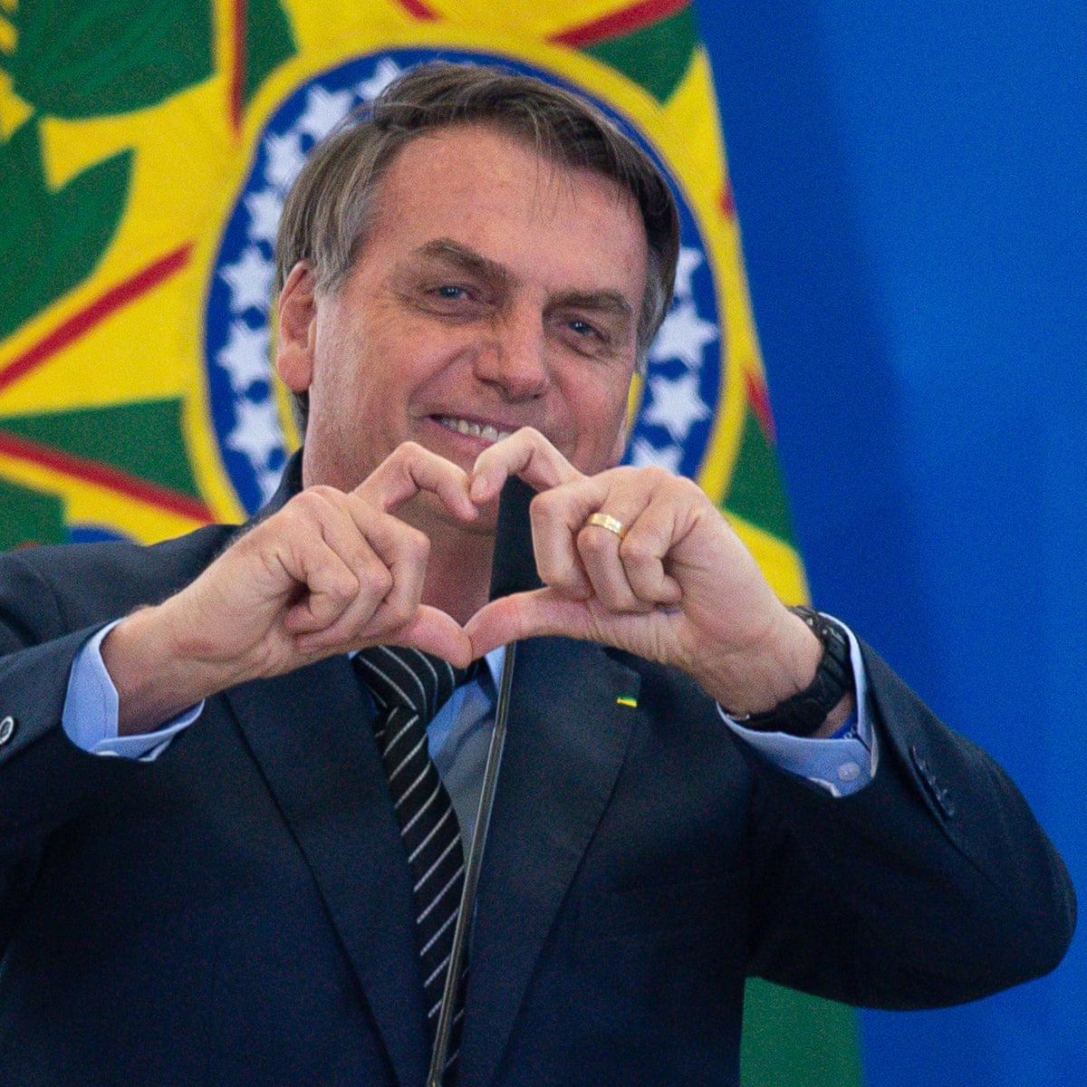 Outrage as Jair Bolsonaro appears to endorse Brazil anti-democracy protests  | Jair Bolsonaro | The Guardian