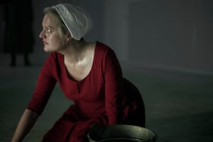 Elisabeth Moss in series 3 of The Handmaid's Tale.