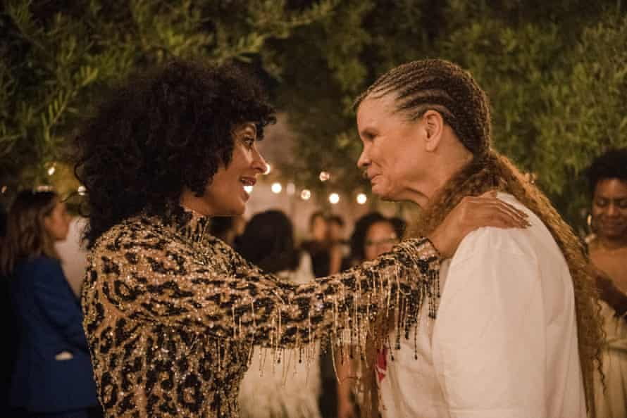 Tracee Ellis Ross and Michaela Angela Davis at the launch of Tracee Ellis Ross's Pattern Beauty in 2019.