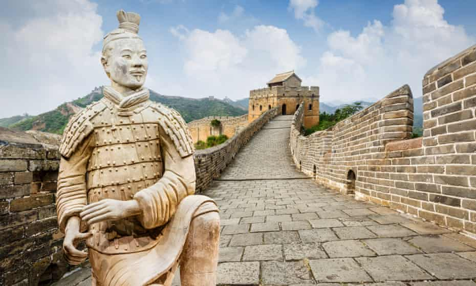 The Great Wall of China is a collective name for fortifications that started being built in the seventh century BC.
