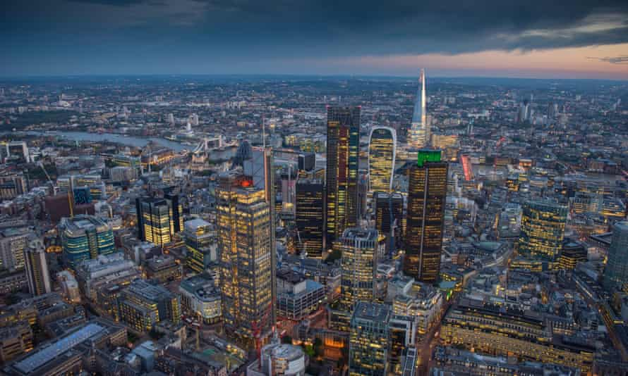 Business rates for offices in the City of London will rise by 33% in the next five years.