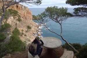 The walk take in the Costa Brava