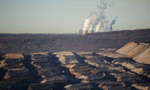 An open-pit coal mine