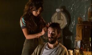 Erin (Michelle Keegan) and Vinnie (Joseph Gilgun) in Brassic