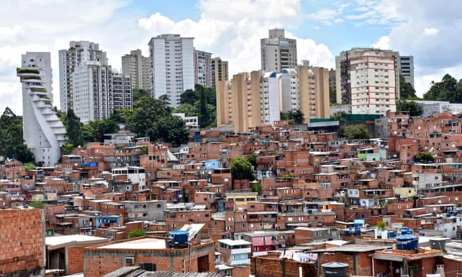 Paraisopolis, the largest favela in Sao Paulo, Brazil