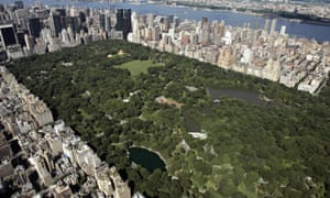 Aerial view of New York's Central Park